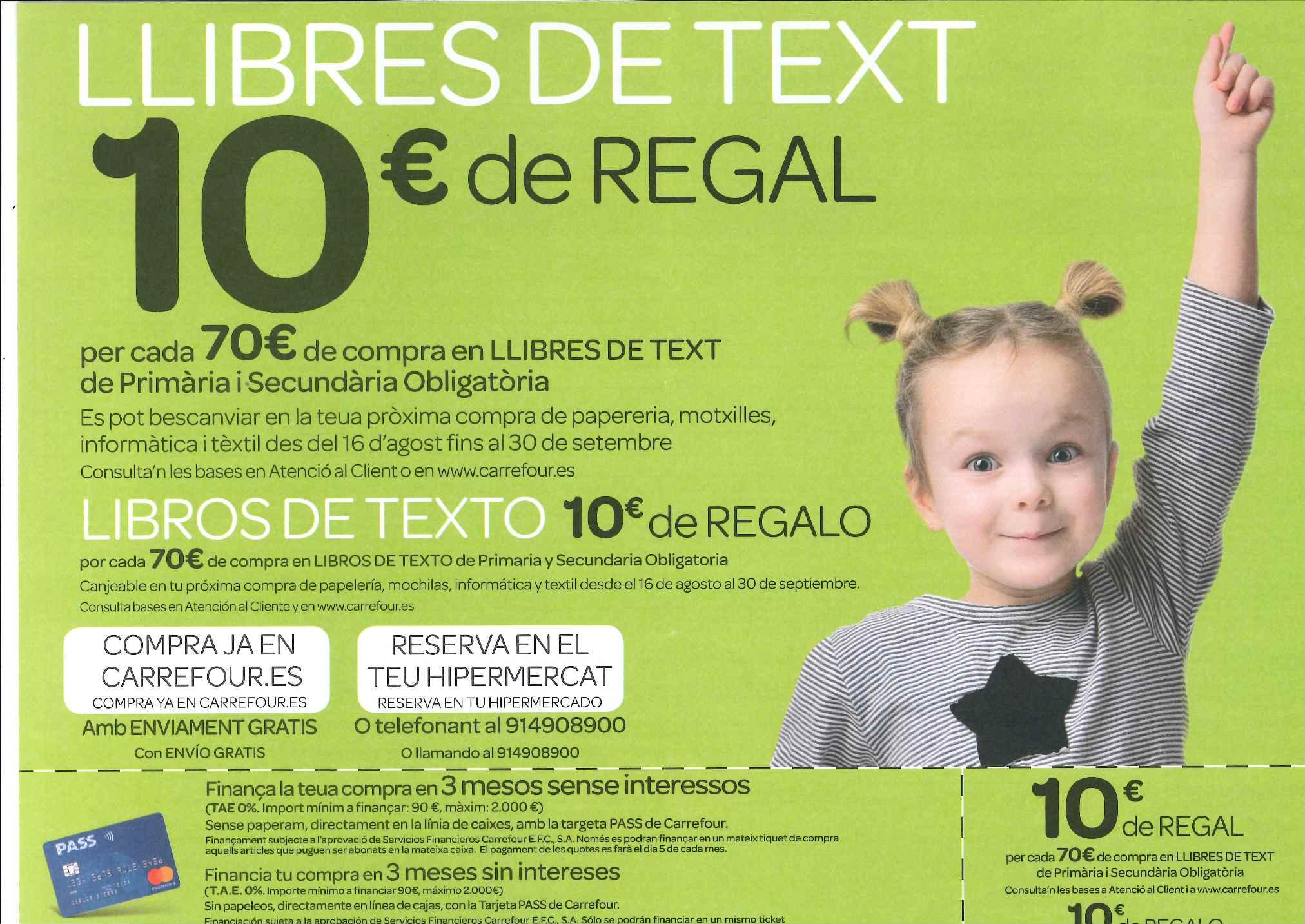 Anuncio de libros de texto Carrefour - Idiomas y Educación db4f4ef899b72