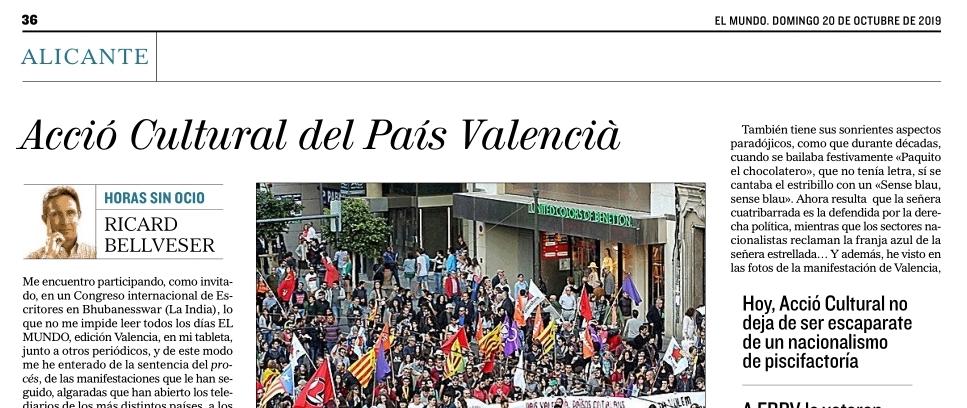 La manipulada y separatista Acció Cultural del País Valencià