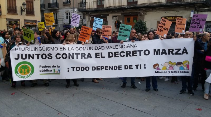Fotografías manifestación Valencia