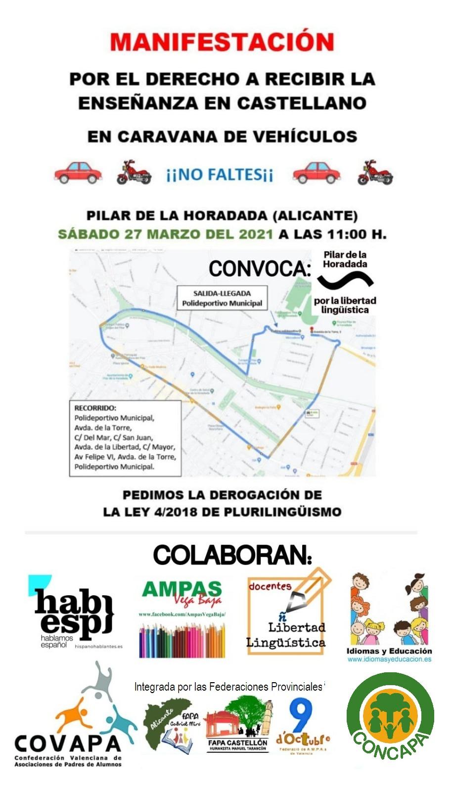 Cartel Oficial Caravana de Coches Pilar de la Horadada