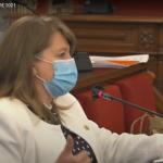 Julia Llopis en el Pleno de Alicante